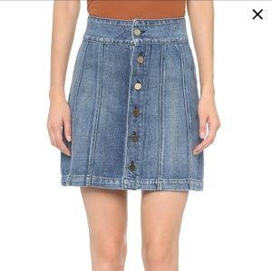 Frame Le Panel Mini Skirt
